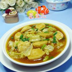 咖喱墨魚丸圓白菜