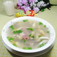 凯里好吃的咸肉秀珍菇蛏子汤的做法