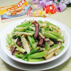 醬肉冬筍炒芹菜