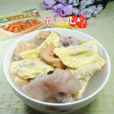 油豆腐蛋餃豬蹄湯