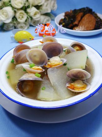 圆蛤冬瓜汤的做法