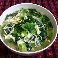 小白菜虾皮挂面汤