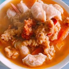 酥肉丸子酸汤
