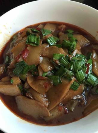 豆瓣酱磨芋的做法