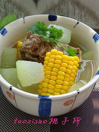 龙骨玉米冬瓜煲的做法