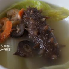 海參白菜湯——海參的家常做法