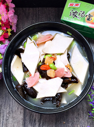 三鲜汤百叶的做法