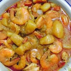 泰式咖喱大蝦