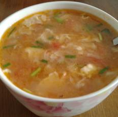番茄蛋花疙瘩湯