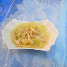 娃娃菜白玉菇湯