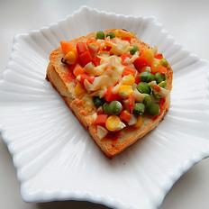 杏鮑菇吐司披薩