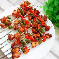 菜椒烤雞脆骨