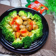 茄汁西蘭花蘑菇