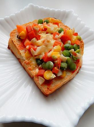 杏鲍菇吐司披萨的做法