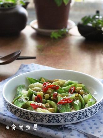 泡椒蒸丝瓜的做法