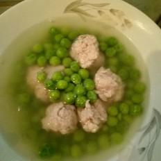 豌豆猪肉丸子汤