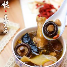 蛤蟆鱼怎么做广东老火靓汤-花姑灵芝养生汤的做法