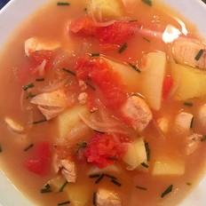 番茄土豆鸡肉汤