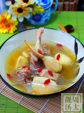 茨菇老鸭汤的做法