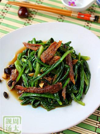 豆豉鯪魚油麥菜的做法