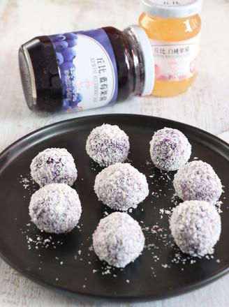 沙拉紫薯球的做法