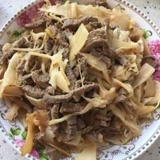 酸筍炒牛肉