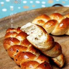 培根香草辫子面包