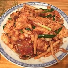 蟹味菇红烧肉烩豆腐
