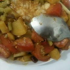 番茄土豆蓋澆