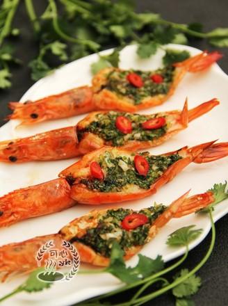 让人惊喜的蒜蓉烤虾的做法