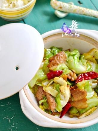 干锅手撕包菜的做法