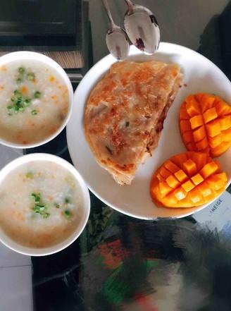 彩色鯽魚粥的做法