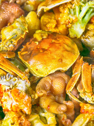 香辣肉蟹煲的做法