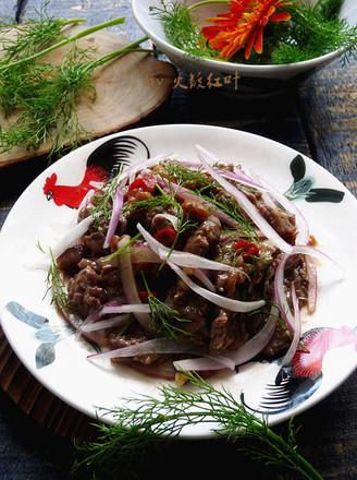 梅子洋葱拌牛肉的做法