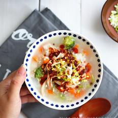 黄糯米饭怎么做鸡肉培根蔬菜粥的做法