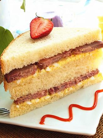 牛肉蛋泥三明治的做法