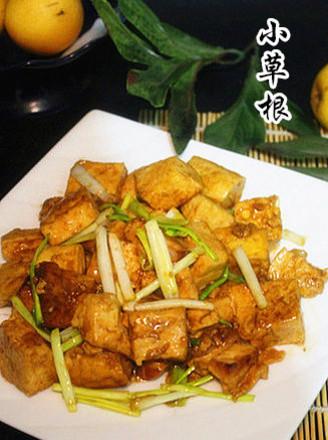 蒜苗豆腐的做法