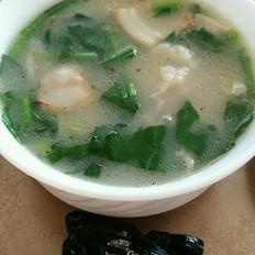 白蛤菠菜疙瘩汤