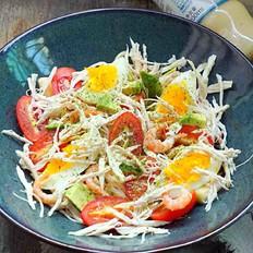 鸡丝果蔬沙拉丘比沙拉汁