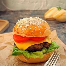酥肉肉饼汉堡
