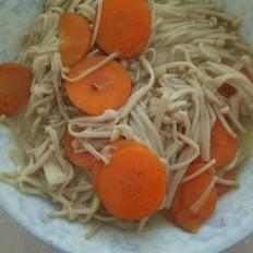 金针菇炒胡萝卜