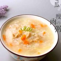 宝宝辅食冬瓜瘦肉二米粥