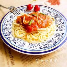 杂蔬番茄肉酱意面