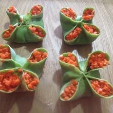 四喜饺子的包法