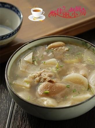 白萝卜蹄花汤的做法