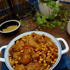 豬蹄兒燜黃豆