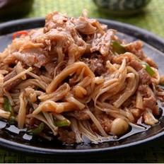 金針菇炒肥牛片