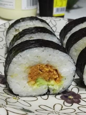 牛油果肉松寿司的做法