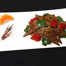 辣椒炒豬肝
