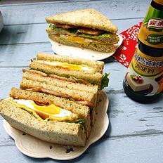 猪排鸡蛋三明治